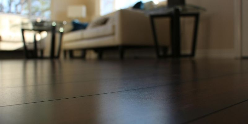 Shiny laminate floor