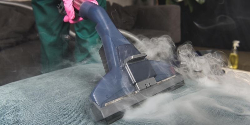 Cleaning with steam cleaner