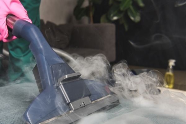 Steam cleaning bed