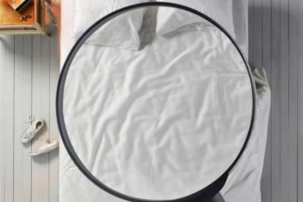 Bed magnifying glass