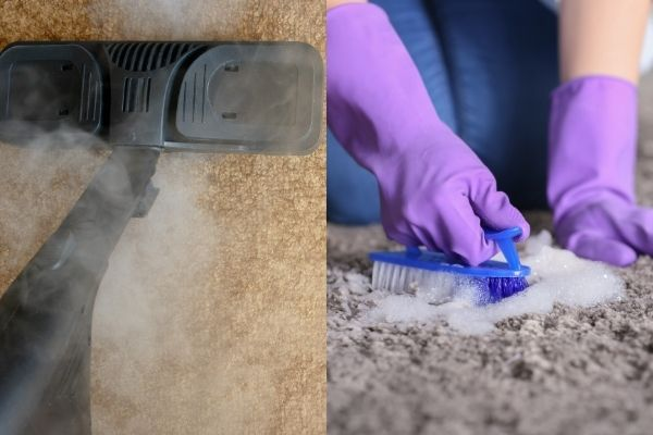 steam carpet cleaning carpet vs chemical carpet cleaning