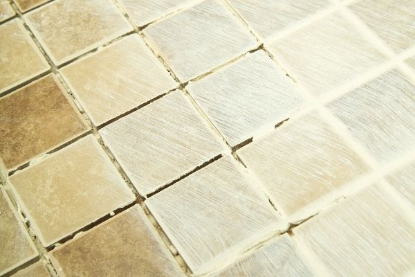 grout on tiles